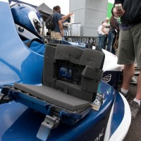 Canon 5D MKII inside of it&#039;s protective case during the production of Ironman 2