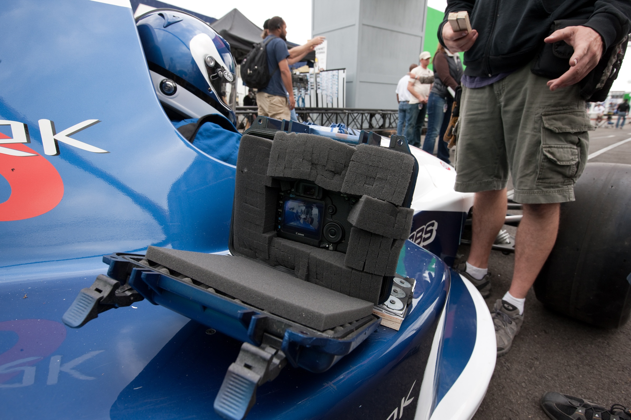 Canon 5D MKII inside of it's protective case during the production of Ironman 2