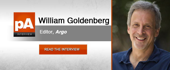 William Goldenberg gives us a behind-the-scenes look at editing this year's most Oscar-worthy film, Argo
